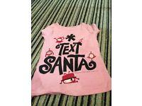 'Text Santa' T-Shirt (age 6-7)