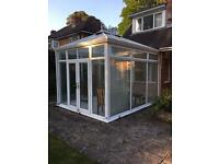 White Victorian style conservatory