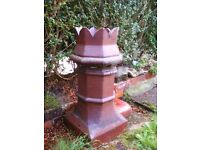 Chimney pot height 31inches, a quirky addition to the garden, collection only.