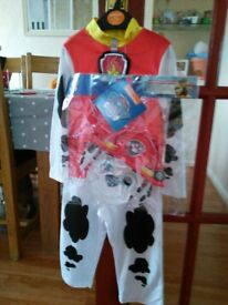 Paw patrol Marshall outfit NEW