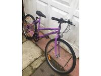 Girls purple bike