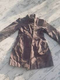 Girls military style coat age 8-10 Vertbaudet