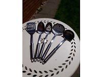Quality, stainless steel kitchen utensils