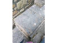Concrete square pavers