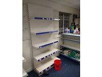 Retail Shop fittings Tegometal style Double sided Gondulas & Wall Units