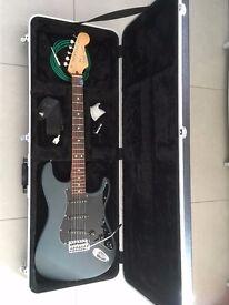 Rare gunmetal blue Fender Stratocaster.
