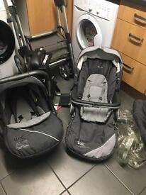 Silver Cross Travel System with Car Seat and Isofix base