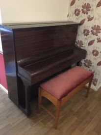 Upright Piano Two pedals Coronet Model Boyd London Bench Seat Storage 85 Keys