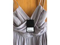 Grey bridesmaid dress size 12