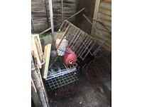 Free scrap metal pile of metal