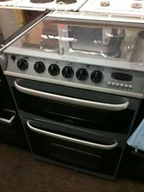 Silver cannon 60cm gas cooker grill & double ovens good condition with guarantee bargain