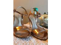 New look rose gold heels