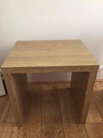 Oak effect table