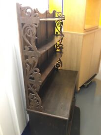 Wooden feature bookshelf