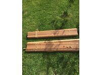 2 x wooden blinds matching