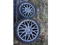 17 inch bk racing alloys