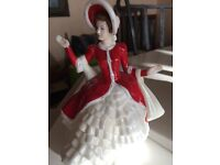 ROYAL DOULTON PRETTY LADIES. CHRISTMAS DAY. HN4925. EXCELLENT COND. 19CM TALL
