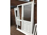 Upvc Front door and fixed side panel in excellent condition with several keys