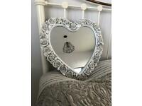 Gallery Shabby Chic Rose Heart Shaped Mirror