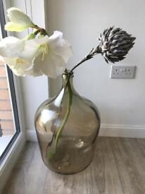 Large designer vase & flowers