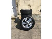 """New VW T6 17"""" Alloys with Tyres"""