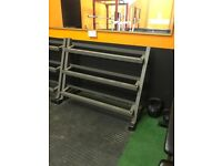 3 Tier Commercial Grade Dumbbell Rack - Storage Weights Gym