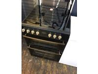 Belling black and silver 50cm electric cooker