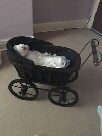 Antique Style Pram with doll