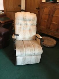 Electronic Riser Recliner Armchair, as new condition with Scotch Guard protection on upholstery