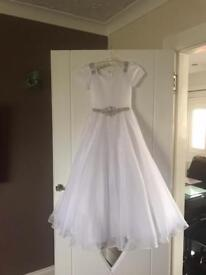 Communion dress with accessories