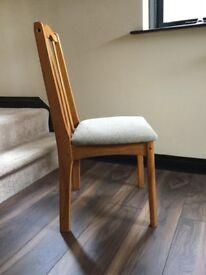 Hardwood dining room chair (one)