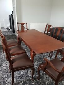 Andrew Thomson of Glasgow. Stunning mahogany dining table & chairs