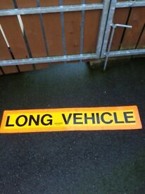 LONG VEHICLE SIGN FOR SALE
