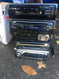 Car stereos ranging from 10-25 pounds