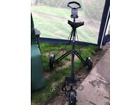 Golf trolley, bag and 2x clubs