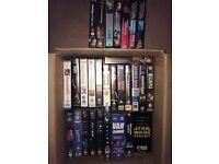 100+ VHS Videos Job Lot (Star Wars, X—Files, Disney, 007, Fawlty Towers etc)