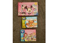 Minnie mouse puzzles and 2 games for toddlers