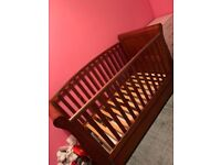 Sleigh bed cot