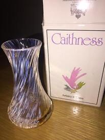 """Caithness glass flower vase """"spinningdale"""""""