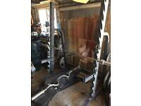 Gym Equipment / power each weights and bench