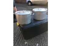 2 large saucepans and 1 fish pan £15 each
