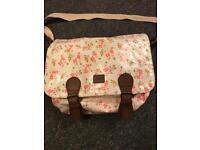 Next floral changing bag, mat and bottle holder