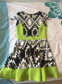 AX Paris dress black and green pattern size 10