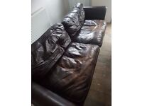 FREE leather sofa, chair and footstool