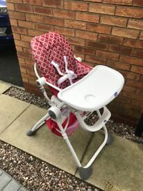 Chicco Folding compact high chair - very good condition