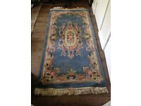 Traditional Vintage Persian Wool Oriental, Floral Rug Handmade Carpet Rug
