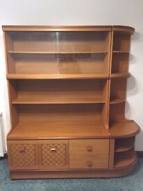 Stateroom by Stonehill - Vintage/Retro Teak Effect Display Unit with working illumination