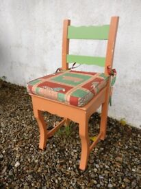 Charming chair with character and comfortable cushion