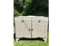 Wooden sideboard cabinet chalk painted
