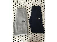 North face grey tracksuit bottoms